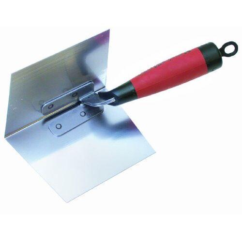Marshalltown dunne hoektroffel met DuraSoft handvat, roestvrij staal, voor gipsplaten en stukadoors, afmetingen: 127x95 mm