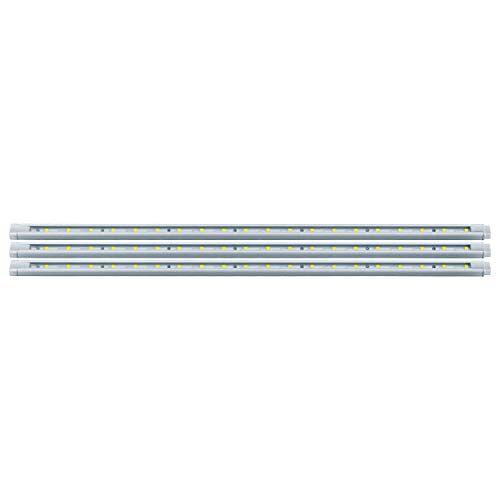Eglo LED Stripe-set STRIPES DECO, 3 x LED staaf neutraal wit, LED strepen in elkaar te steken, lichtstrip van kunststof in wit met kabelschakelaar, L 117 cm