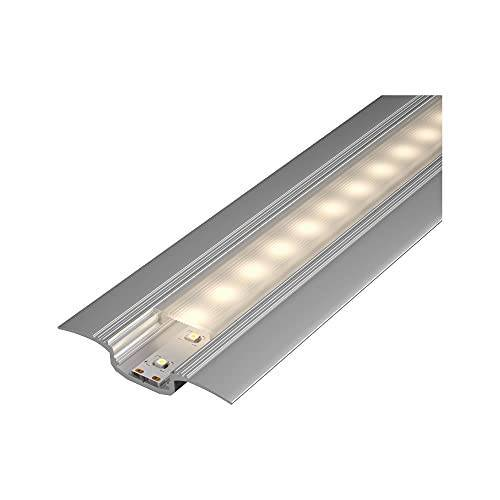 Paulmann 70855 Profiel Step Diffuser 100cm LED kanalen geanodiseerd aluminium, satijnen strips aluminium, kunststof strip