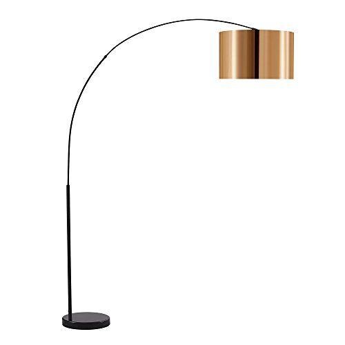 Versanora Curvella booglamp staande lamp booglamp booglamp booglamp zwart goud