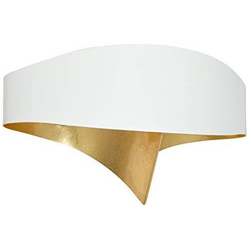 SELENE wandlamp, 11 W, wit met bladgoud