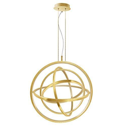 Elements Lighting 101065 hanglamp, acryl, 55 W, bladgoud