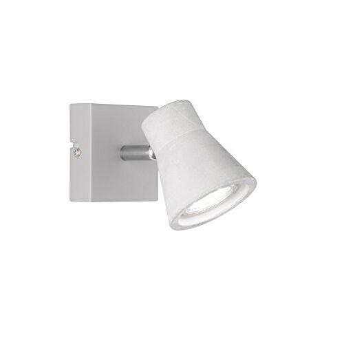 Reality Leuchten Spot, metaal, GU10, 3 W, betonkleurig, 8 x 8 x 15 cm
