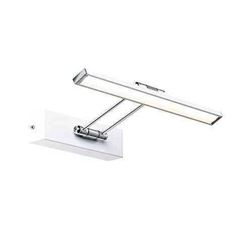 Paulmann 99891 LED fotolamp Galeria incl. 1x5 Watt beeldverlichting wit, chroom fotolamp metalen opzetlamp 2700 K
