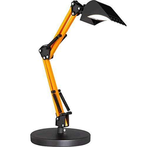 WOFI Action by  Led-graafmachine, bureaulamp van metaal en kunststof, voor kinderen of de werkkamer, zwart/geel, dimbaar, zwenkbaar, CCT-kleurtemperatuurregeling, hoogte 50 cm