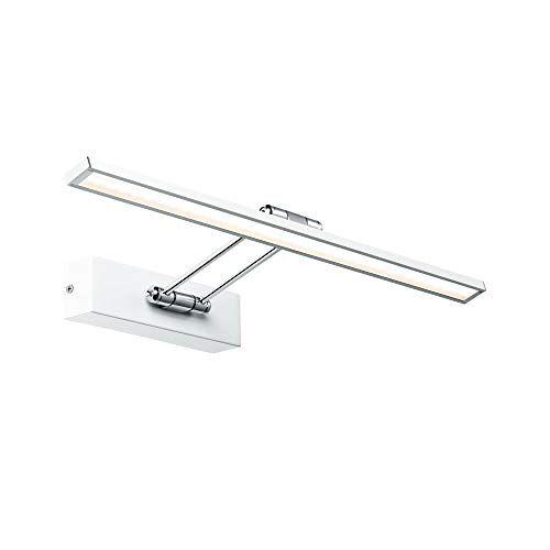 Paulmann 99892 LED fotolamp Galeria incl. 1x7 Watt beeldverlichting wit, chroom fotolamp metalen opzetlamp 2700 K