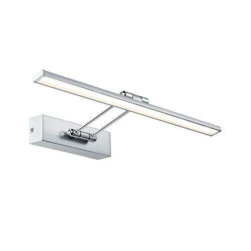 Paulmann 99895 LED fotolamp Galeria opkastlamp Assistent II incl. 1x7 Watt beeldverlichting geborsteld nikkel chroom fotolamp metalen opzetlamp 2700 K