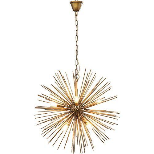 Kare Design hanglamp Beam messing, frame, baldakijn: gelakt metaal, goud, 72 x 72 x 72 cm
