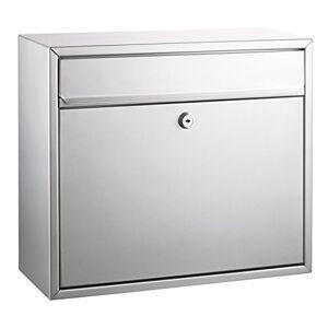 Alco 8601 brievenbus gelakt, ca. 31 x 36 x 15 cm, zilver 31 x 36 x 15 cm zilver