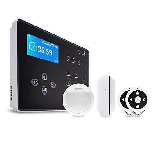 Atlantic's Neos Kit 1 alarminstallatie, draadloos, overdracht van alarmen naar vaste of mobiele lijn, tolerantie voor huisdieren, geïntegreerde sirene 105 dB