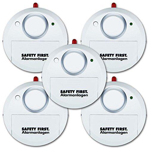 KH-Security kh security glazen breukalarm, set van 5, wit, 100161set5