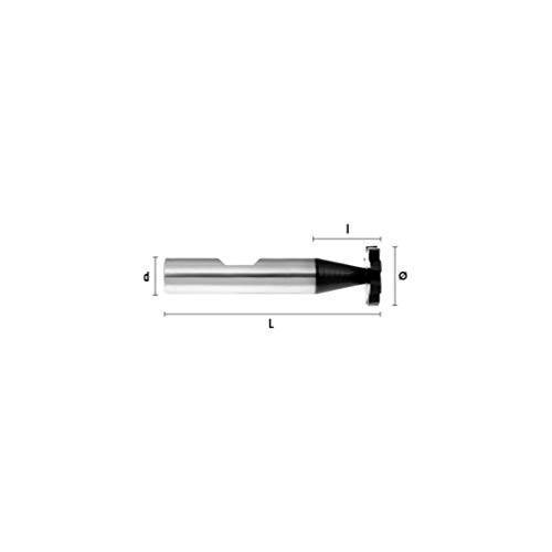 Hepyc 31520105030 speciale frezen frezen, Ø10,5 mm, L 50 mm, L 3 mm (Z6 HSSE DIN 850 D)