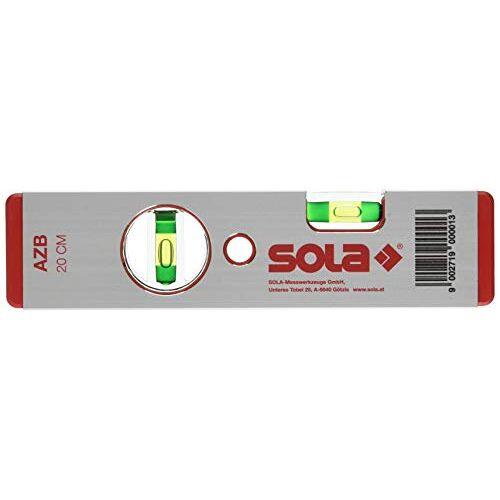 """Sola 1010101 aluminium waterpas""""AZB 20"""" 20 cm in rood, 200 mm"""