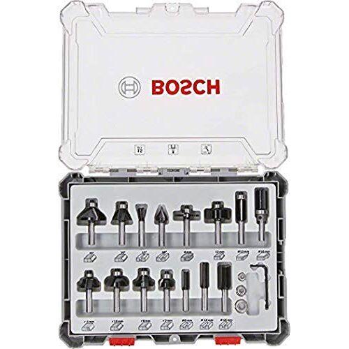 Bosch 15-delige frezenset (voor hout, accessoire bovenfrezen met schacht van 8 mm)