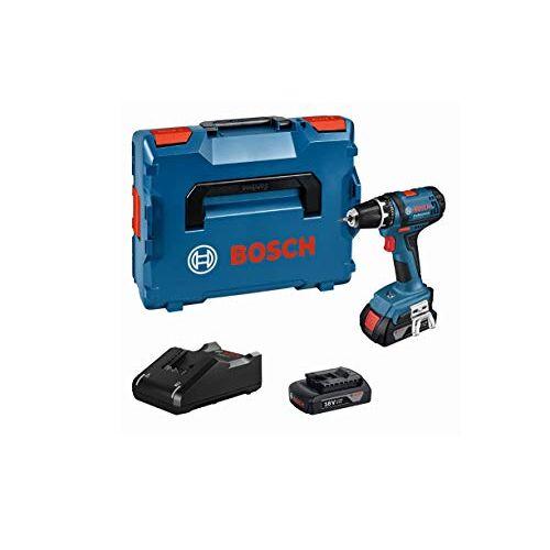 Bosch GSR 18-2 LI Accuschroevendraaier, 2 x 1,5 Ah accu, 18 volt, schroef-Ø max: 7 mm, in L-BOXX)