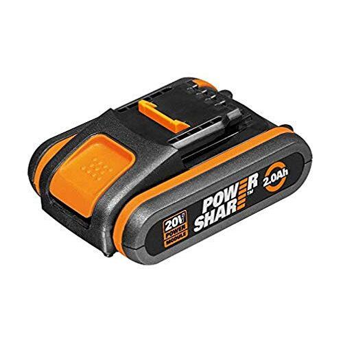 Worx WA3551.1 Accu 20V oplaadbare batterij voor alle  apparaten 2000mAh Li-Ion accu PowerShare, Zwart en Oranje
