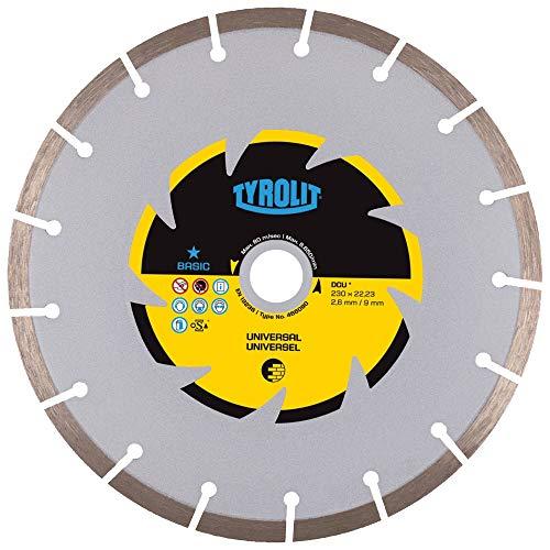 Tyrolit 466090 Diamant-doorslijpschijf DCU Basic, bouwmaterialen, universeel, 230 mm x 2,6 mm/9 mm