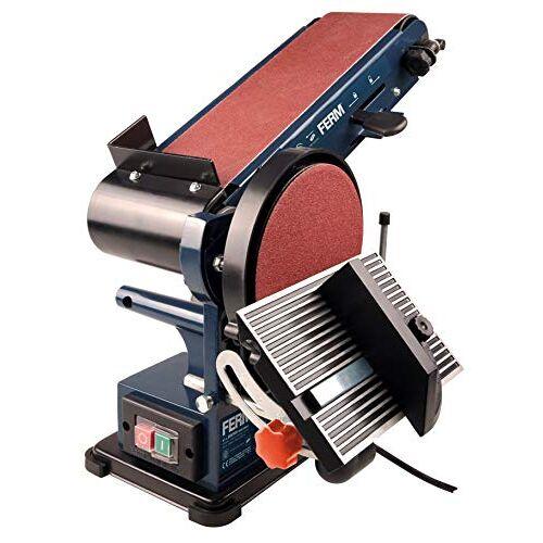Ferm Bandschuurmachine 350W 150mm inclusief 2 Schuurbanden (P80 en P120) en 2 Schuurschijven (P80 en P120)