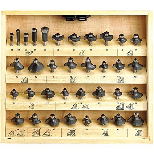 Fervi 0830 Serie 35 frezen voor hout
