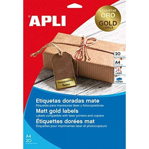 Agipa 14888 etiketten, 210 x 297 mm, goud