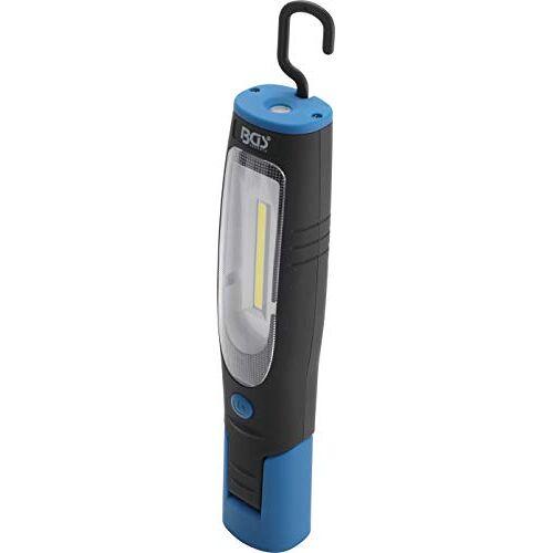 BGS 85324   COB-led-werkplaatslamp met magneet en haak   werklamp met 400 lumen voor werkplaats en hobby   180 draaibaar