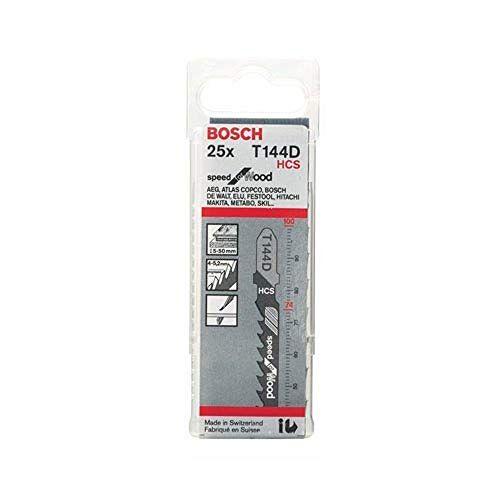 Bosch Speed for Wood Decoupeerzaagblad voor hout (25 stuks, T 144 D)