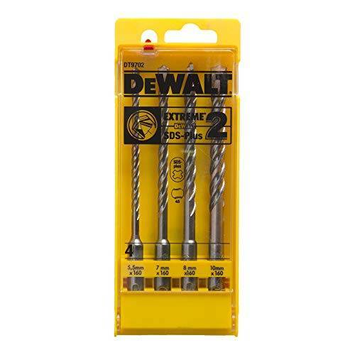 DeWalt Extreme DT9702 SDS-Plus Ha mmer-boorsets (4-delig met 5.5, 7, 8, 10 mm Ø in kunststof cassette)