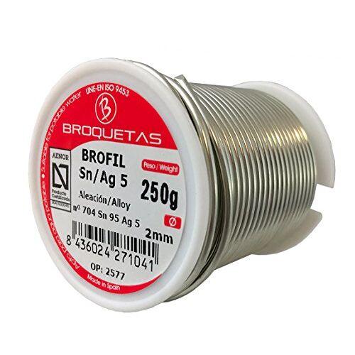 Brofil tinnen zilver 5 Sn AG 250 g spoel