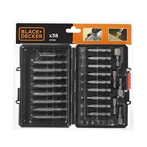 Black & Decker Zwart + Decker A7202 Schroevendraaier Bit Set 38-delig