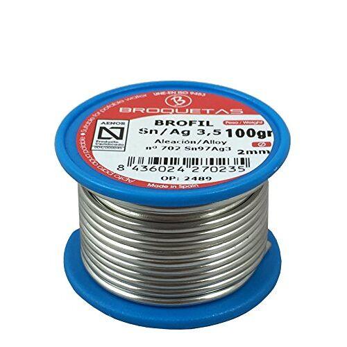 Brofil tinnen zilver 3,5 Sn AG 100 g spoel