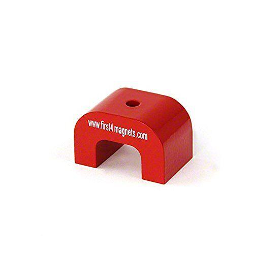 first4magnets F4M812-1 middelgrote rode AlNiCo hoefijzermagneet 9 kg aantrekkingskracht (40 x 25 x 25 mm) (1 stuks)