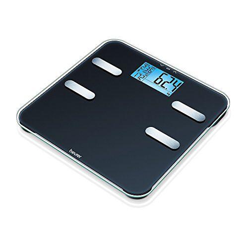 Beurer BF 185 diagnoseweegschaal, gewicht, lichaamsvet, lichaamswater, spiermassa en botmassa, caloriebehoefte AMR