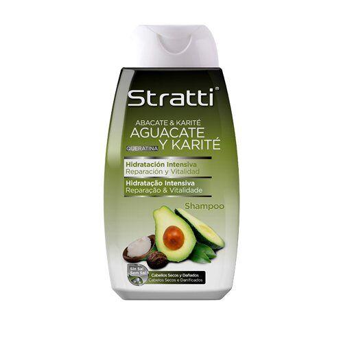 Stratti Aguacate Shampoo voor reparatie en vitaliteit met keratine, zonder zout 400 ml