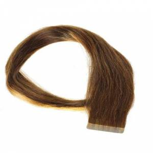 hair2heart Just Beautiful Hair and Cosmetics 30 x 2,5 g Remy Tape In/On Extensions haarverlenging Skin Weft 60 cm 30 Stuk 4 braun