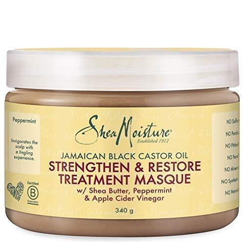 SHEA MOISTURE haarmasker ter versterking en regeneratie, jamaicaanse zwarte ricinusolie, 326 ml