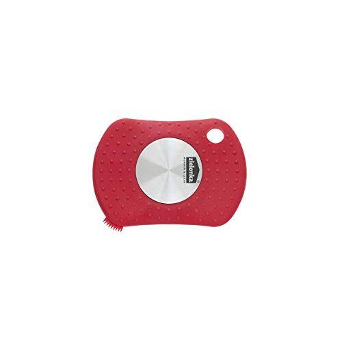 zilofresh 18135 roestvrijstalen zeep, verse handen Plus, rood, incl. praktische nagelborstel, zonder chemische toevoegingen, allergievriendelijk, Made in Germany