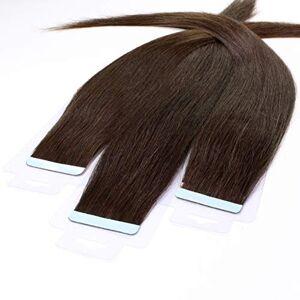 hair2heart 30 x 2,5g Tape In Hair Extensions, 60cm glad #4 bruin