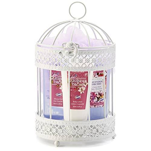 Gloss! FL15F102 PURPLE Cage Bad Aromanice 4 stuks lavendel en orchideeën, paars 1 stuk (1 x 1 stuks) geschenkdoos badcadeau