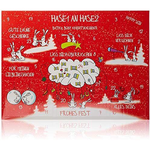 accentra Adventskalender Bath & Body Hase1 aan Hase2, kerstkalender met cosmetica- en wellness-inhoud, perfect cadeau-idee voor vrouwen en meisjes