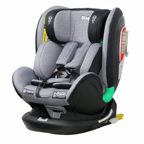 Ding Autostoel i-Size Philo - Grey - Autostoelen