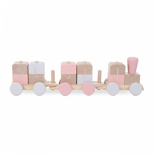 Jollein Houten speelgoedtrein - Pink - Houten speelgoed