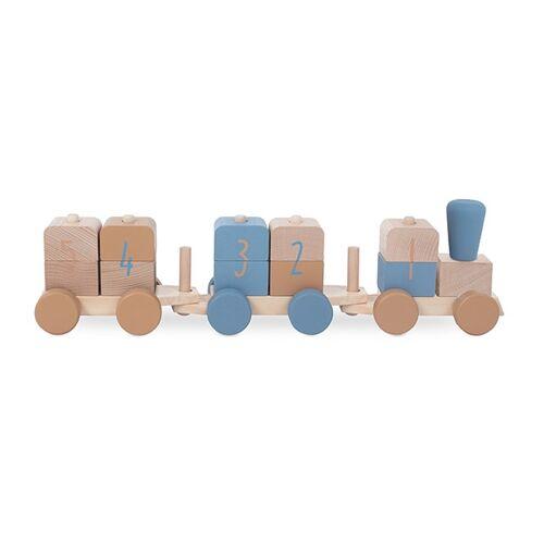 Jollein Houten speelgoedtrein - Blue - Houten speelgoed