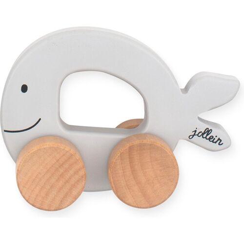 Jollein Speelgoedauto Sea animals - Grey - Houten speelgoed