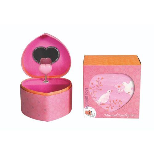 Egmont Toys muziekdoosje / juwelendoosje duif met hartje - Muziekdoosje