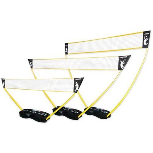 Hammer 3-in-1 set - portable tennis, badminton en volleybal net