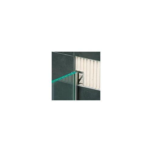 I-Drain Glaskeil Wand Edelstahl gebürstet Glaskeile L: 210 cm Glaskeil-Wand ID210GW