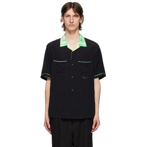 Poggy's Box Black & Tie-Dye Bowling Shirt - S