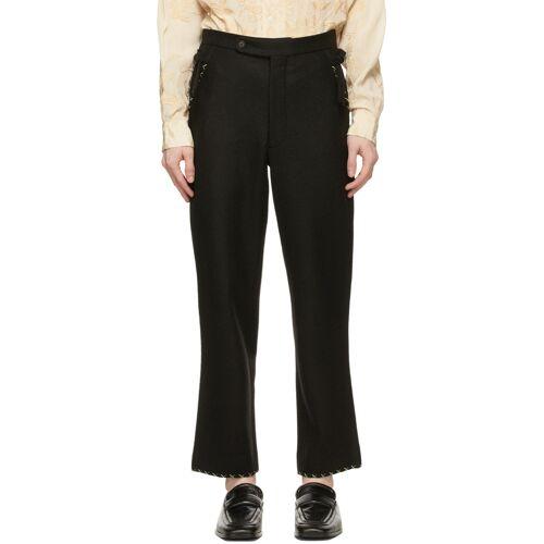 Bode Black Farm Souvenir Trousers - 28