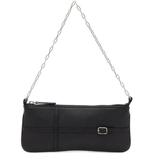 Abra Black Belt Baguette Bag - UNI