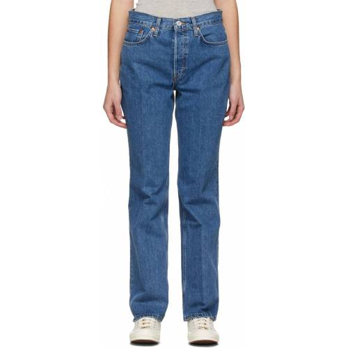Re/Done Blue 70s Bootcut Jeans - 25